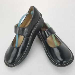 ALEGRIA PG Lite PAl-101 Black Patten Leather Mary